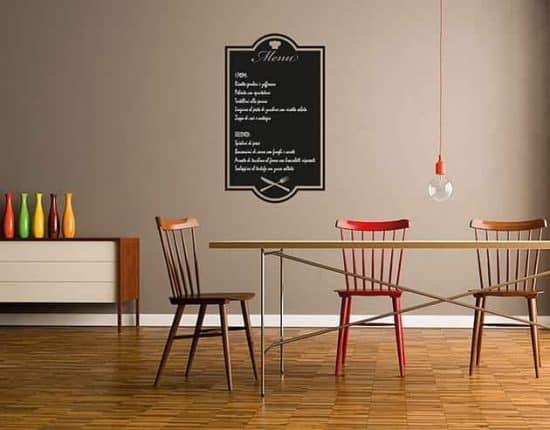 Lavagne adesive da parete menu cucina ristorante