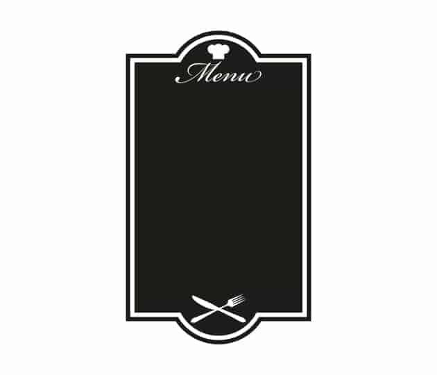 Lavagne adesive menu cucina ristorante