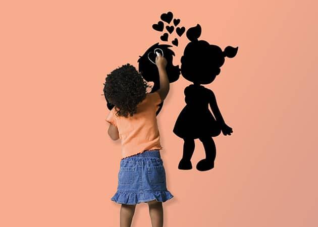 Lavagne adesive murali arredo amore bambini love for Lavagne da arredo