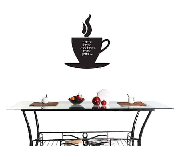 Lavagne adesive murali caff arredo bar - Lavagne adesive per cucina ...