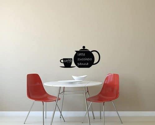 Lavagne adesive murali caffè cucina arredo