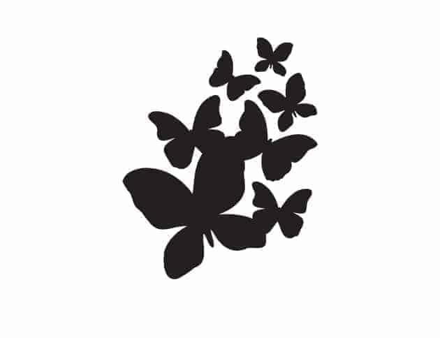 Lavagne adesive murali farfalle arredo