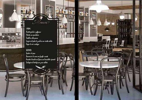 Lavagne adesive murali menu cucina ristorante