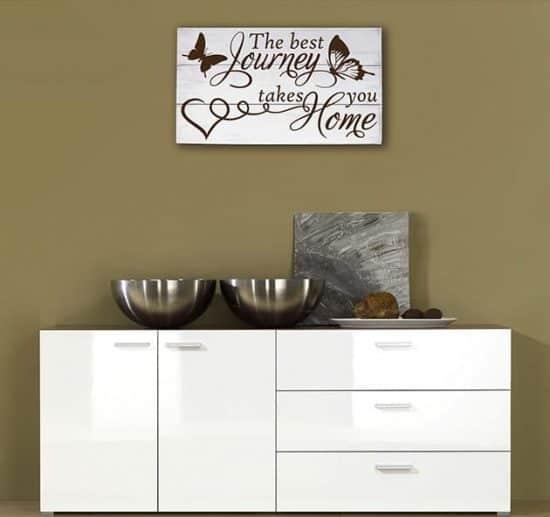 Pannelli decorativi shabby chic in legno frase home casa