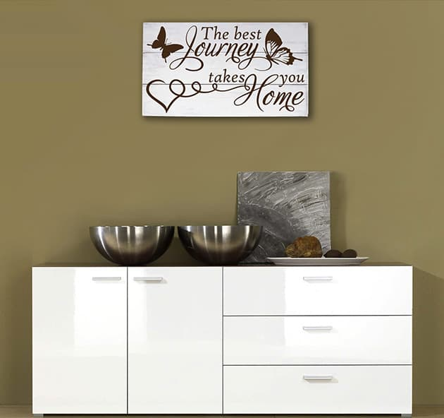 Pannelli decorativi shabby chic in legno frase home casa for Quadri decorativi moderni
