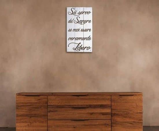 Pannelli decorativi shabby chic legno frase Seneca