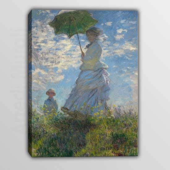 Quadro copia Monet Donna Con Il Parasole