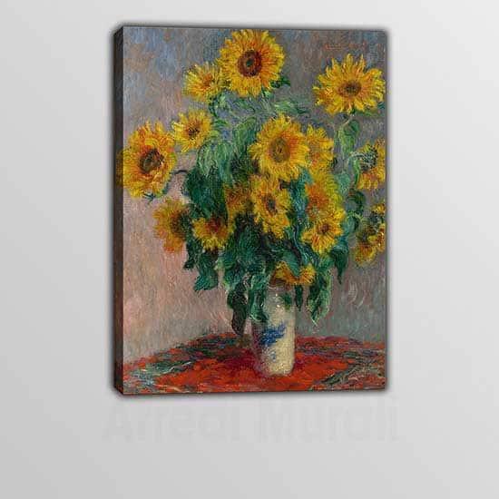 Riproduzione quadro Vaso di Girasoli Monet