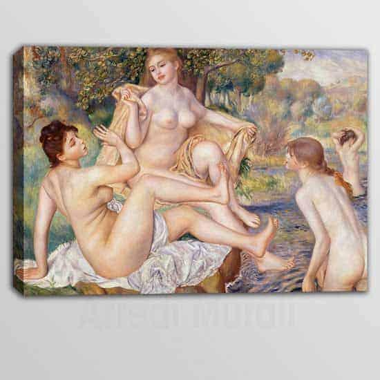 Riproduzione quadro di Renoir Le Bagnanti