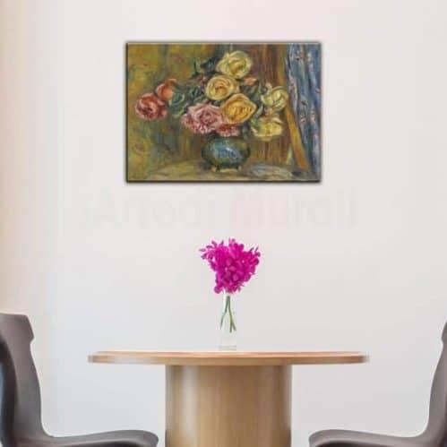 Quadro riprodotto Renoir Vaso di Fiori