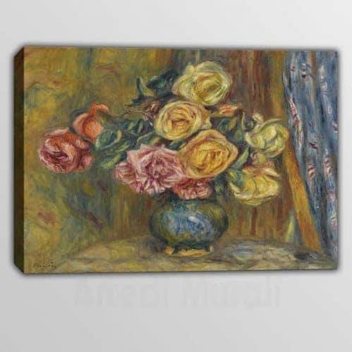 Quadro moderno Pierre Auguste Renoir Vaso di Fiori riproduzione su tela