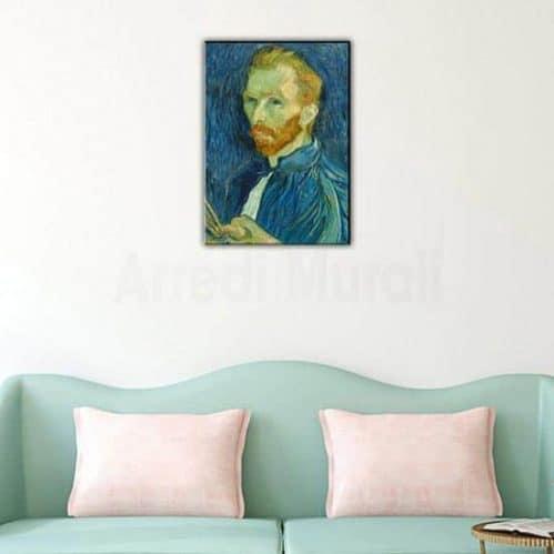 quadro moderno con riproduzione di Van Gogh Autoritratto stampato su tela