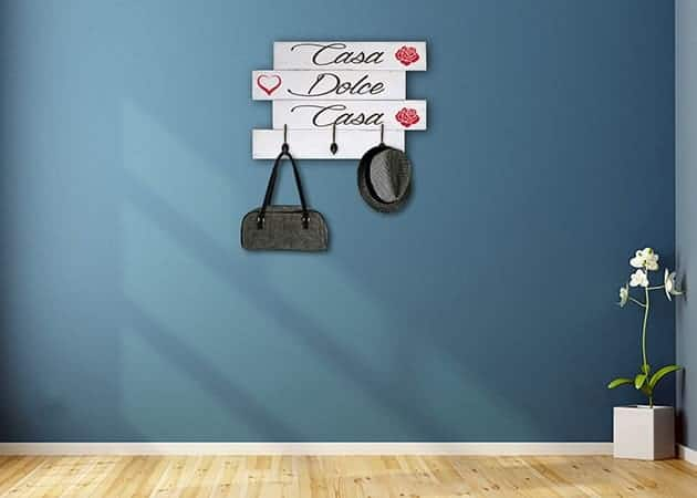Pareti In Legno Shabby : Shabby chic pannelli da parete appendiabiti in legno