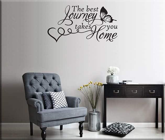 Adesivi da parete frase home casa arredo - Stickers da parete personalizzati ...