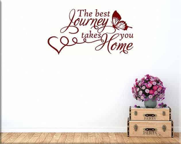 adesivi murali frase home casa arredo