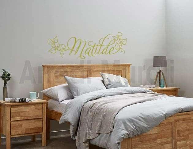 adesivi murali nome personalizzato Matilde