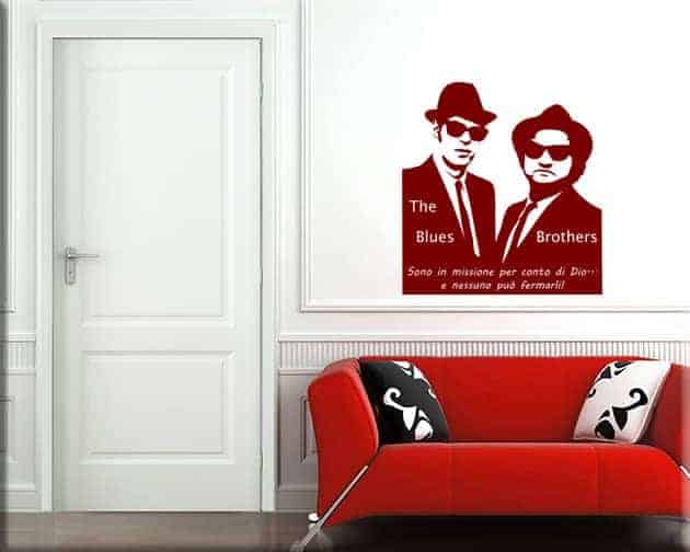 decorazioni murali Blues Brothers frase