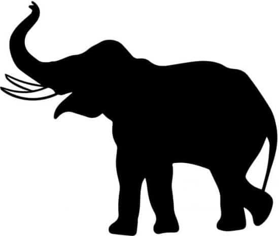 lavagna adesiva da parete elefante bambini arredo