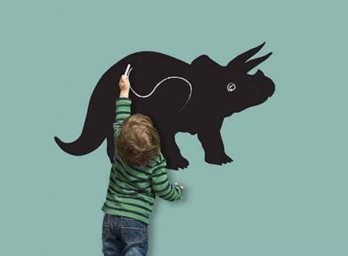 lavagne adesive da parete dinosauro bambino