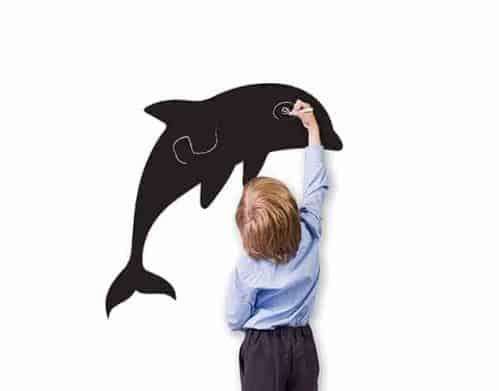lavagne adesive murali delfino bambini arredo