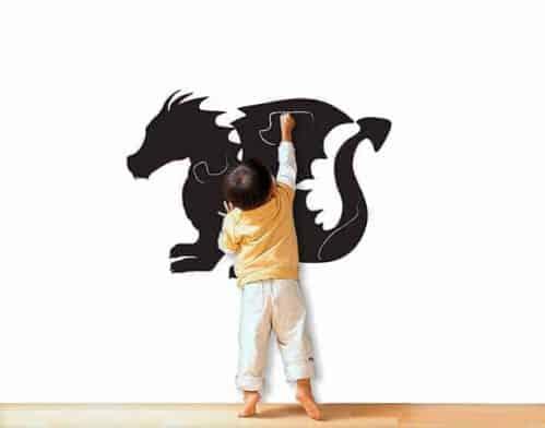 lavagne adesive murali drago bambini arredo