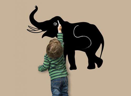 lavagne adesive murali elefante bambini arredo