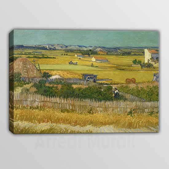 Quadro moderno il raccolto Vincent Van Gogh