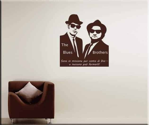 wall stickers Blues Brothers frase