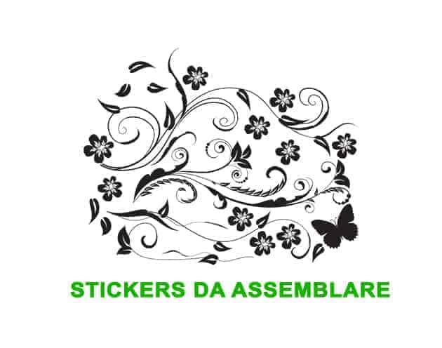 wall stickers fiori stilizzati arredo design
