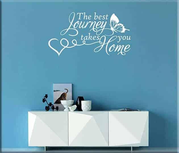 wall stickers frase home casa arredo