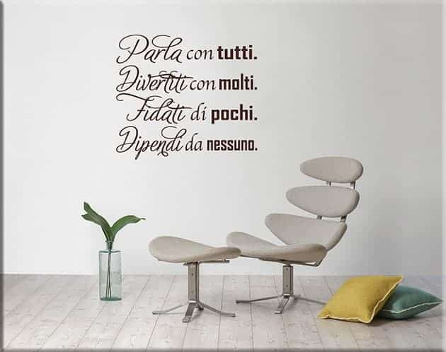 wall stickers frasi arredo casa ufficio