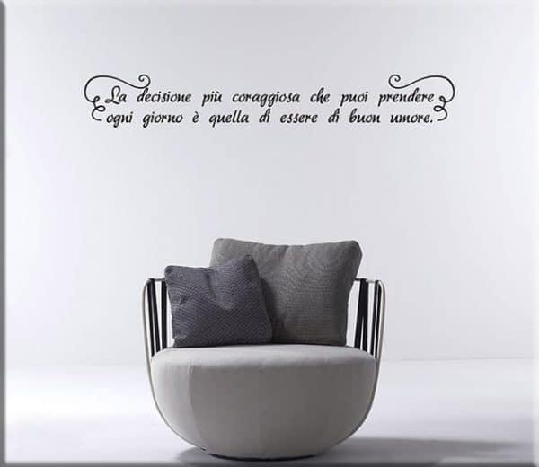 Decorazioni adesive da parete frase personalizzata