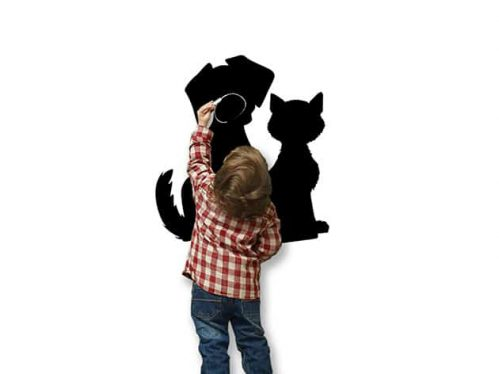 Lavagne adesive da parete arredo cane gatto