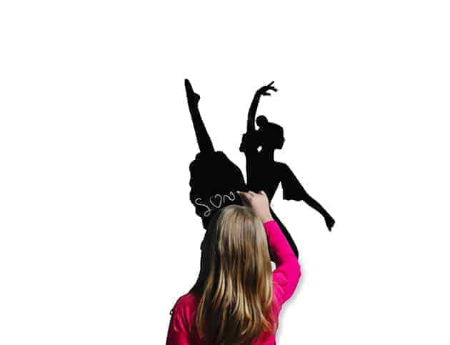 Lavagne adesive murali ballerina arredo casa