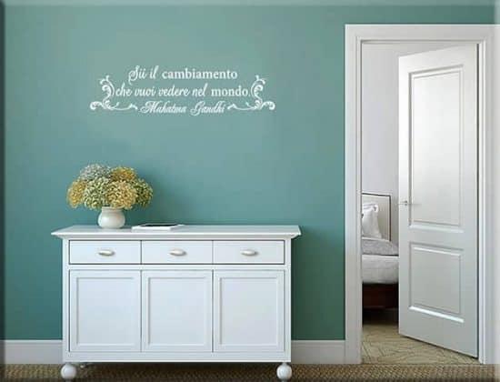adesivi da parete arredo frase Gandhi