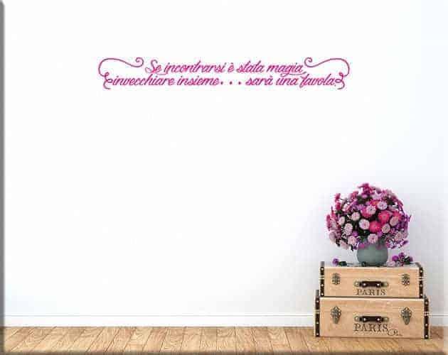 adesivi da parete arredo frase personalizzata