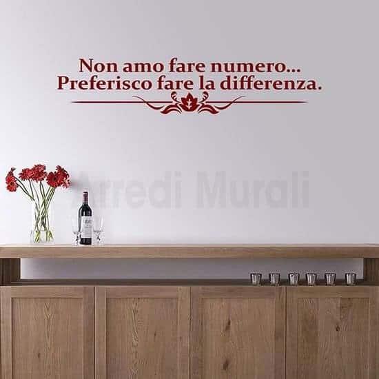 adesivi da parete frase personalizzata arreda rosso