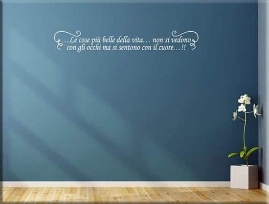adesivi murali arredo frase personalizzata