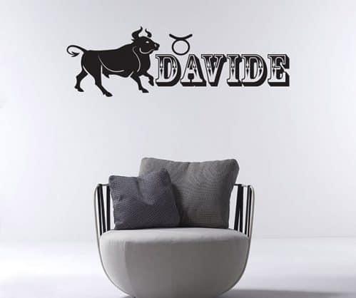 adesivi murali personalizzati segno zodiacale toro