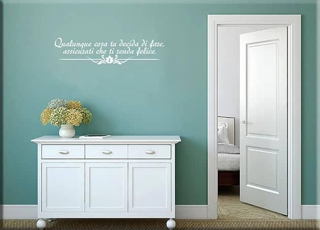 decorazioni da parete frase personalizzata arredo