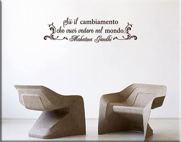 wall stickers arredo frase Gandhi