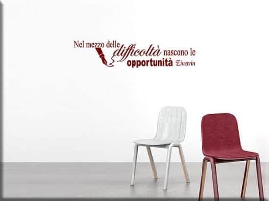 wall stickers frase Einstein arredo design