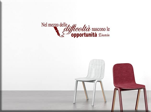 wall stickers frase Einstein arredo design