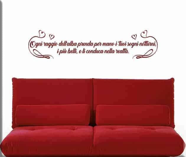 wall stickers frase personalizzata