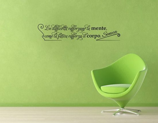 Adesivi da parete frase citazione Seneca