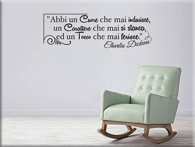 Adesivi murali frase Charles Dickens design