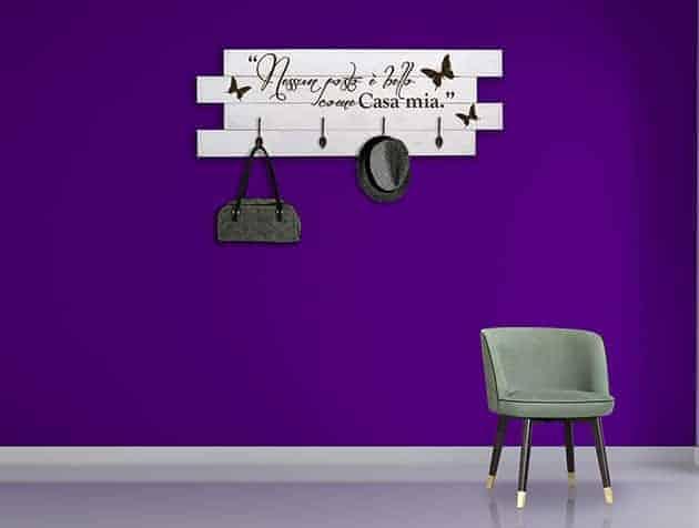 Pannelli decorativi appendiabiti in legno shabby chic - Pannelli da parete decorativi ...