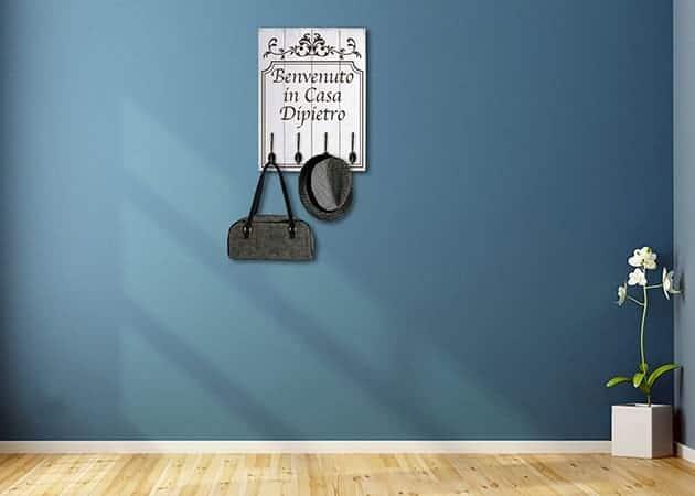 Pannelli decorativi personalizzati shabby chic appendiabiti in legno