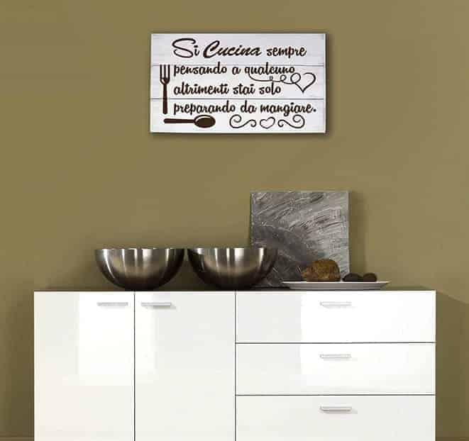 Shabby chic pannelli decorativi arredo frase cucina