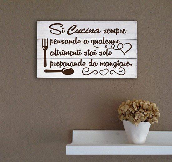 Shabby chic pannelli decorativi in legno arredo frase cucina